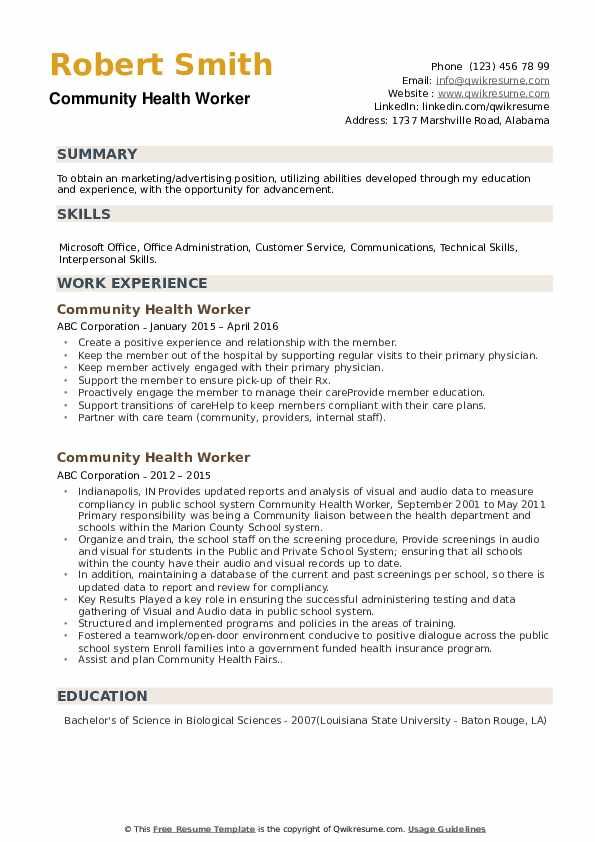 community health worker resume samples qwikresume care pdf best trading terms for Resume Resume Health Care Worker