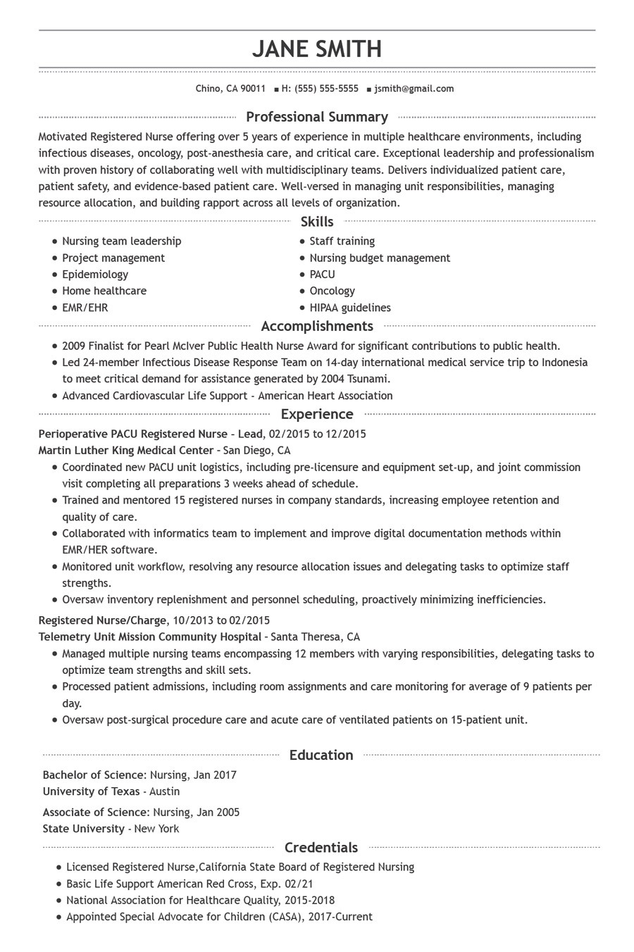 complete guide to nurse resume writing resumehelp detailed for nurses chronological scp Resume Detailed Resume For Nurses