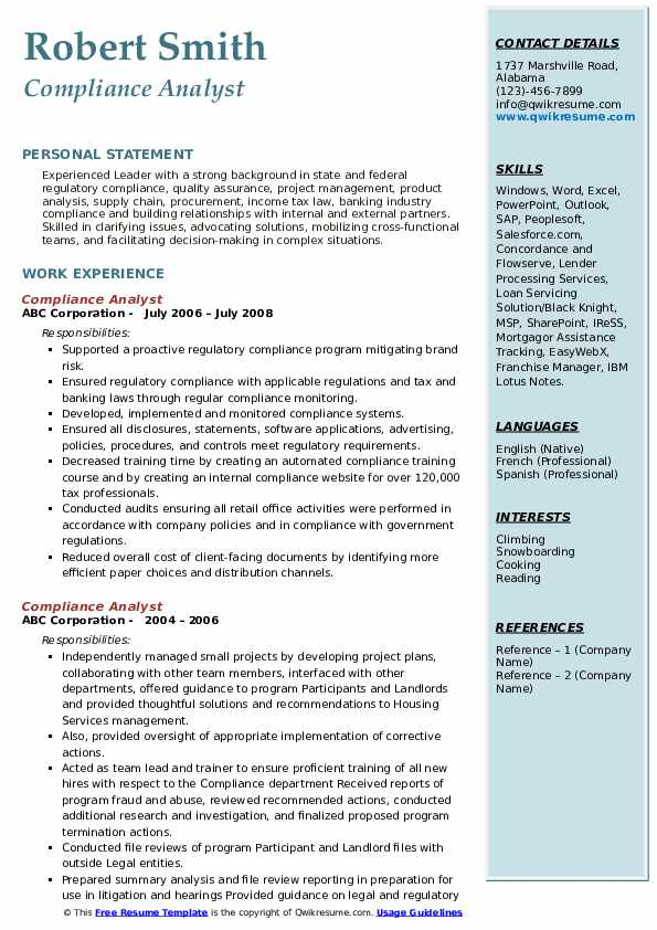 compliance analyst resume samples qwikresume sample pdf sap hcm year experience the Resume Compliance Analyst Resume Sample