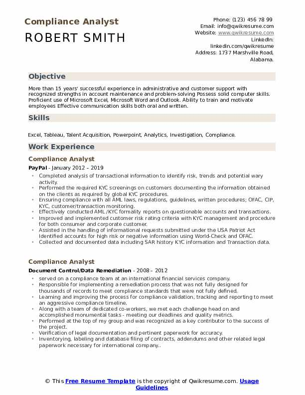 compliance analyst resume samples qwikresume sample pdf teenager examples for teens case Resume Compliance Analyst Resume Sample