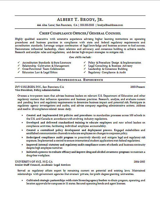 compliance officer resume example chief risk s14a legal high school student skills Resume Chief Risk Officer Resume