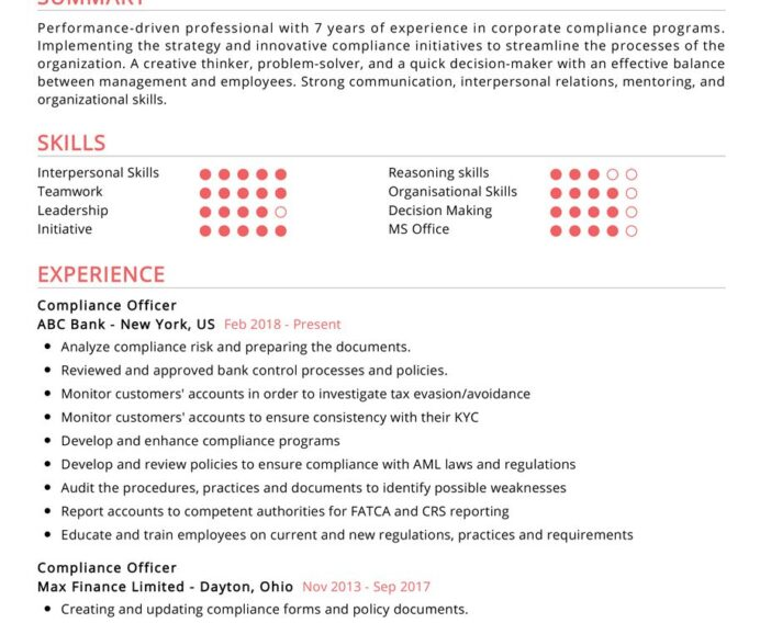 compliance officer resume examples cv sample resumekraft specialist objective 913x750 Resume Compliance Specialist Resume Objective