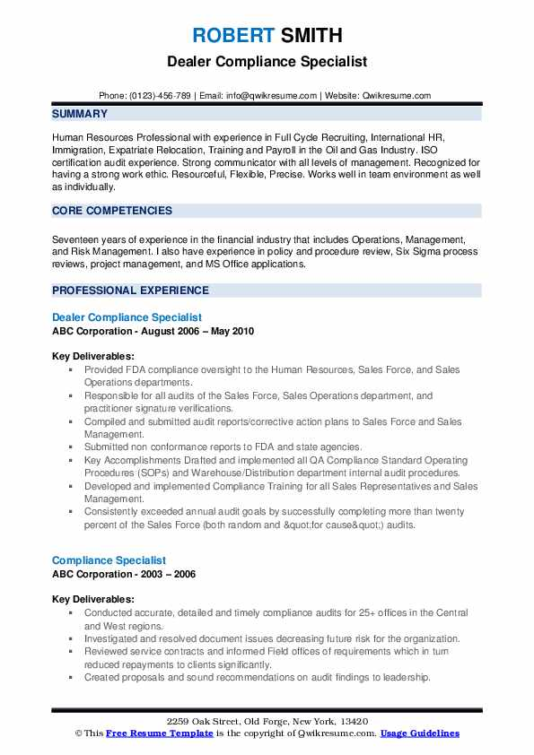 compliance specialist resume samples qwikresume objective pdf lpo one year experience Resume Compliance Specialist Resume Objective