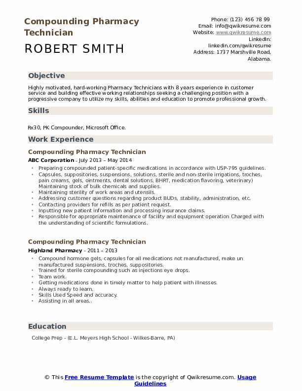 compounding pharmacy technician resume samples qwikresume non certified pdf lead auditor Resume Non Certified Pharmacy Technician Resume