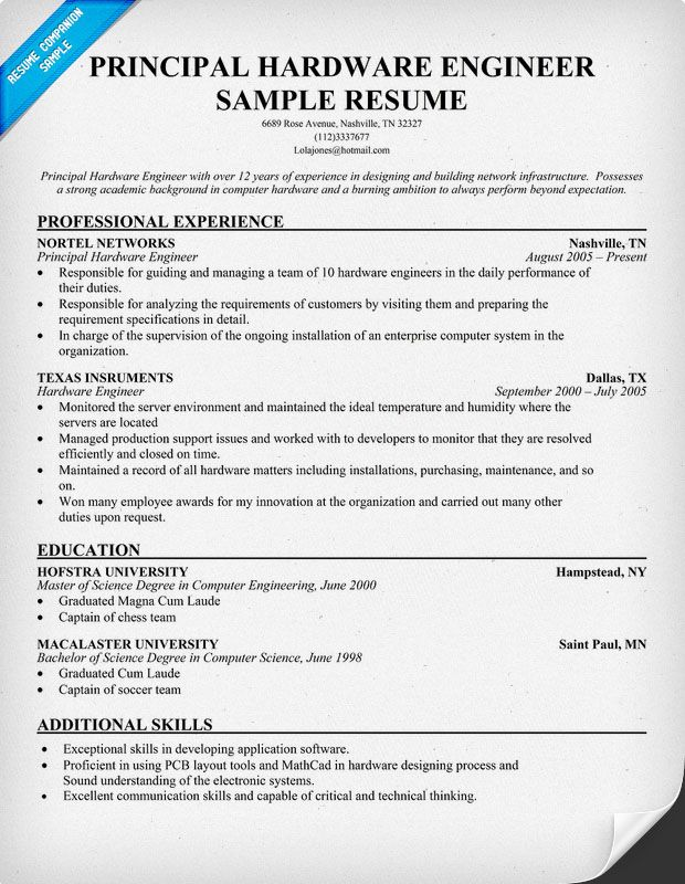 computer engineering resume examples best hardware engineer format for restaurant manager Resume Computer Hardware Engineer Resume Format