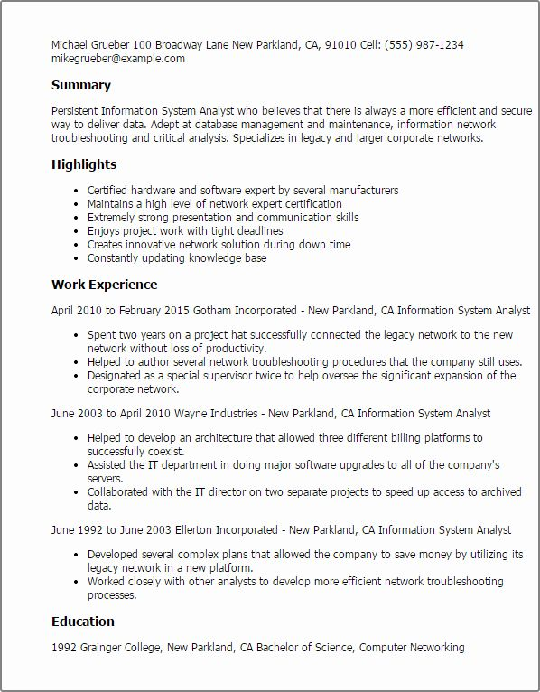 computer information systems resume luxury professional analyst templates to proposal Resume Information Systems Resume