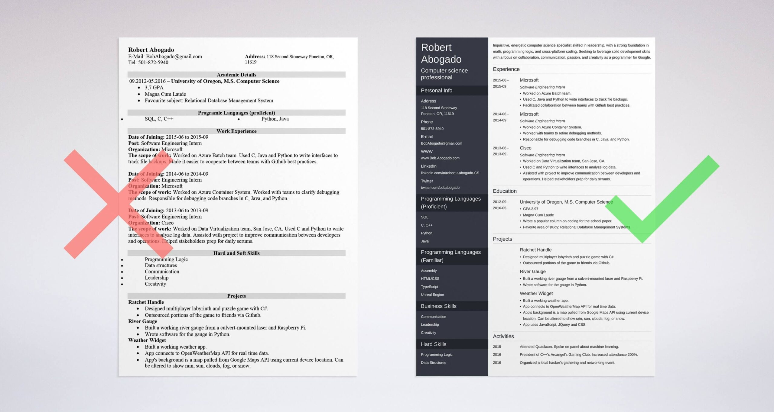 computer science resume example template guide samples for graduates entry level android Resume Resume Samples For Computer Science Graduates