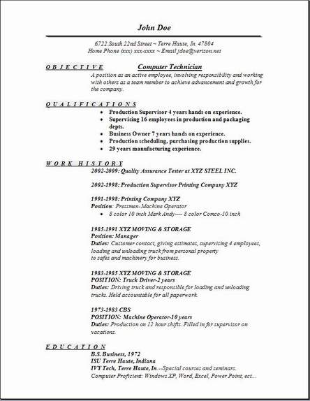 computer technician resume examples samples free edit with word best for btech freshers Resume Computer Technician Resume