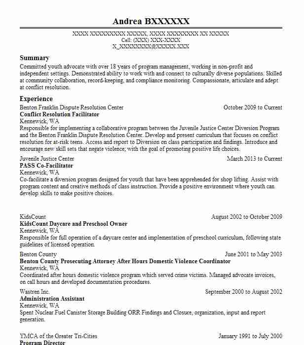 conflict resolution officer resume example high school new executive cfo professional Resume Resume Conflict Resolution