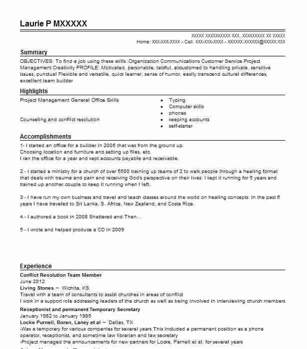conflict resolution officer resume example high school new job definition examples Resume Resume Conflict Resolution
