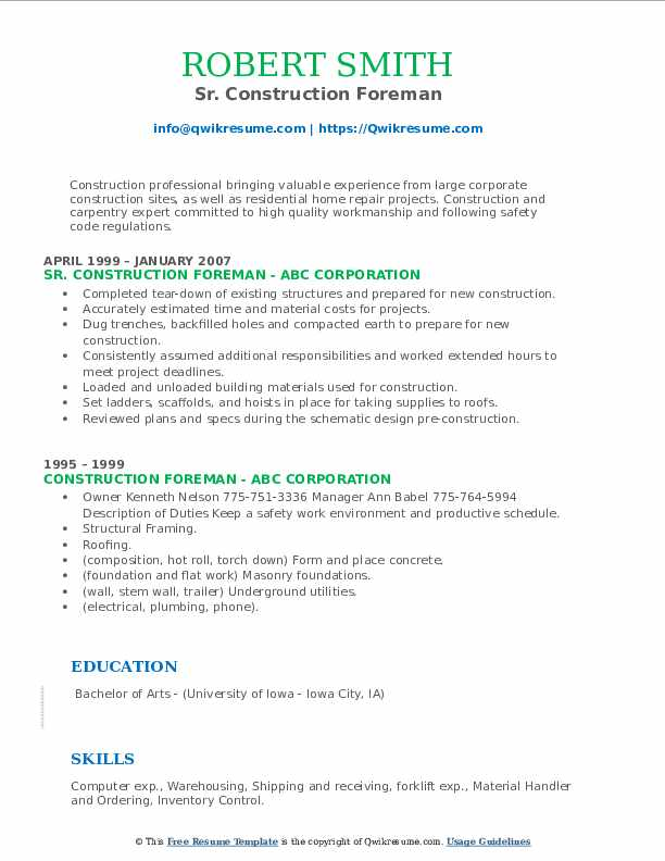 construction foreman resume samples qwikresume pdf indeed apply opcd personal banker job Resume Construction Foreman Resume