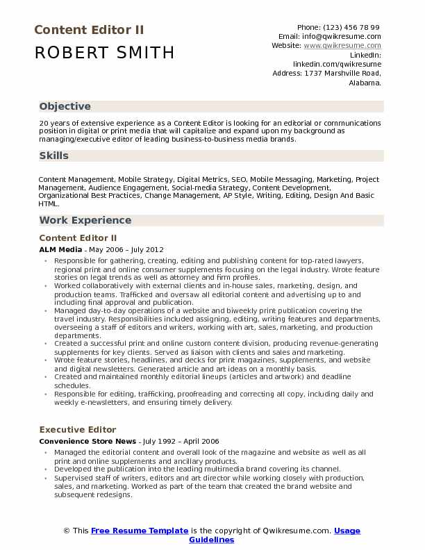content editor resume samples qwikresume sample for editing job pdf the most professional Resume Sample Resume For Editing Job