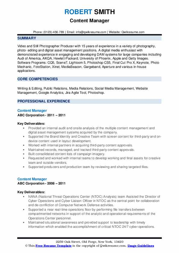 content manager resume samples qwikresume web pdf airs extension immigration consultant Resume Web Content Manager Resume