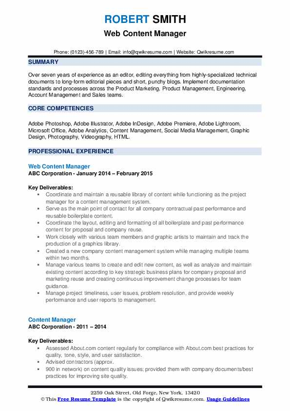 content manager resume samples qwikresume web pdf help train new employees on airs Resume Web Content Manager Resume