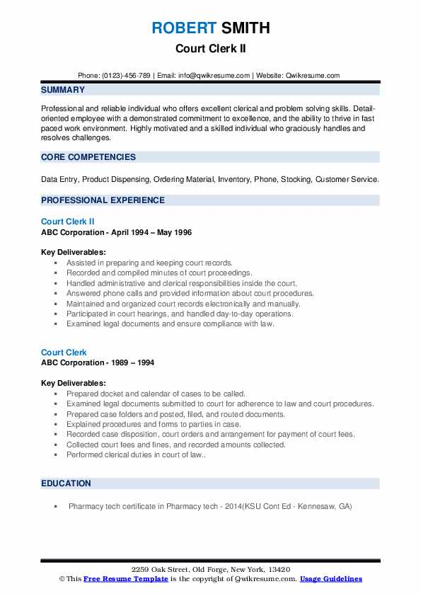 court clerk resume samples qwikresume objective pdf business management security access Resume Court Clerk Resume Objective Samples