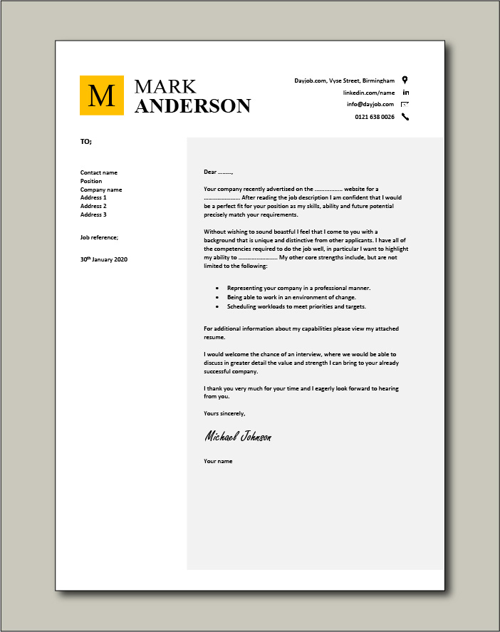 cover letter examples for different job roles in dayjob please see attached resume free Resume Please See Attached Resume