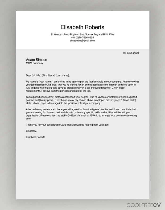 cover letter maker creator template samples to pdf free resume examples sample Resume Free Resume Cover Letter Examples 2020