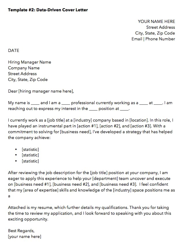 cover letter templates to perfect your next job application sample for resume data driven Resume Sample Cover Letter For Resume Job Application