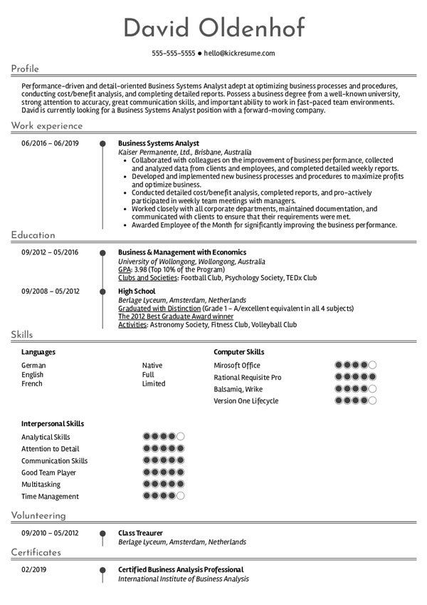 create an effective system analyst resume to succeed in your job search journey example Resume System Analyst Resume Example