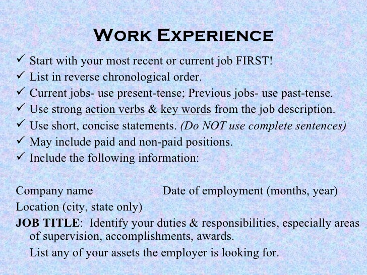 current job resume verb tense present or past on powerpoint help omaha need fake Resume Present Or Past Tense On Resume