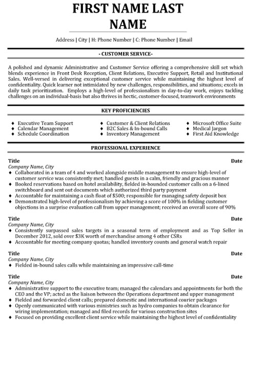 customer service professional resume sample template services writing checklist buyer Resume Professional Resume Services
