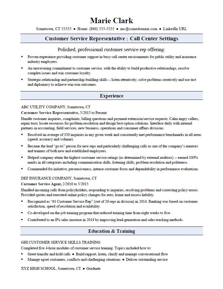 customer service representative resume sample monster experience rep community college Resume Customer Service Experience Resume