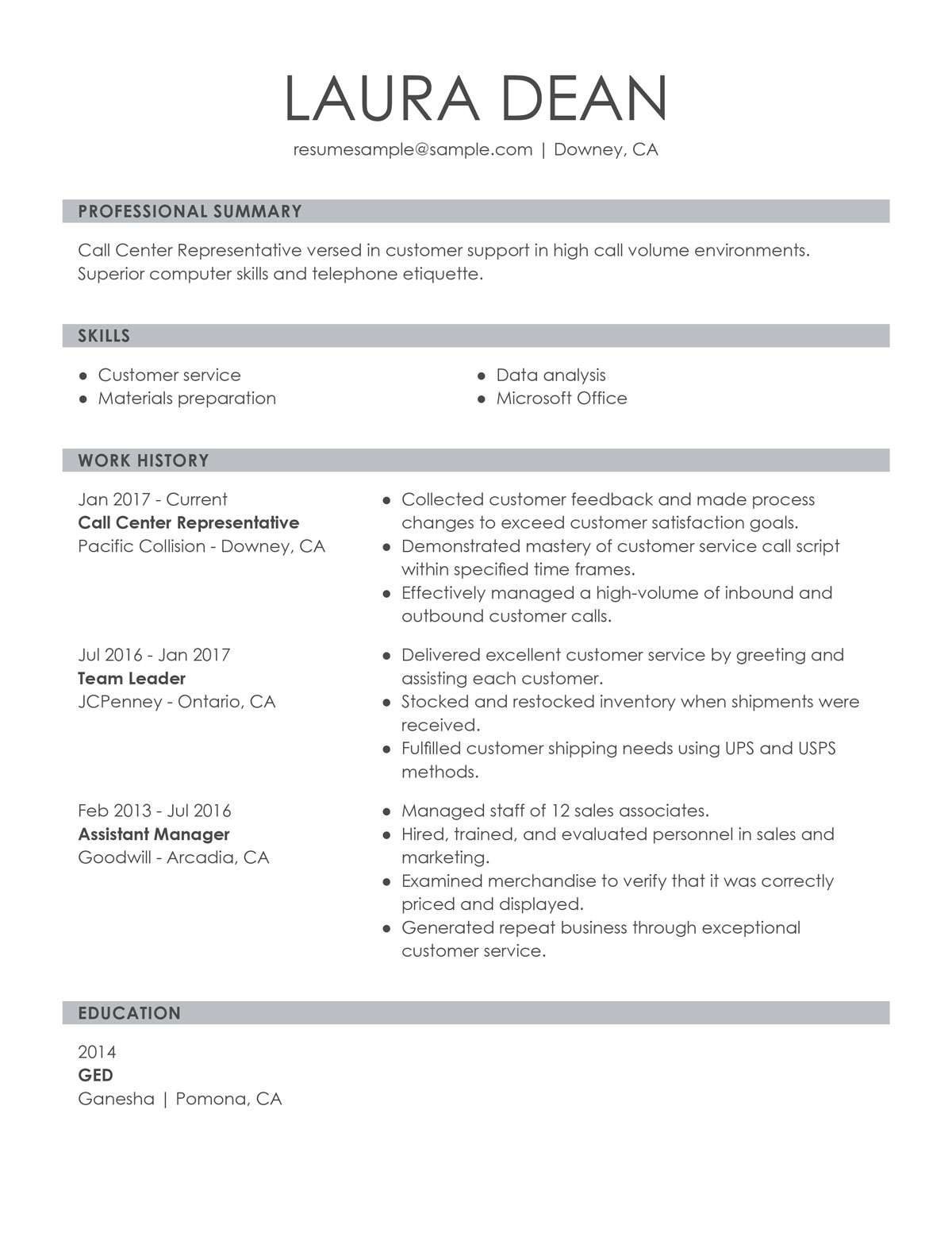 customize our customer representative resume example technical support call center sample Resume Technical Support Representative Resume
