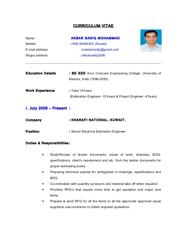cv electrical estimation engineer resume great additional skills for writing verbs Resume Estimation Engineer Resume