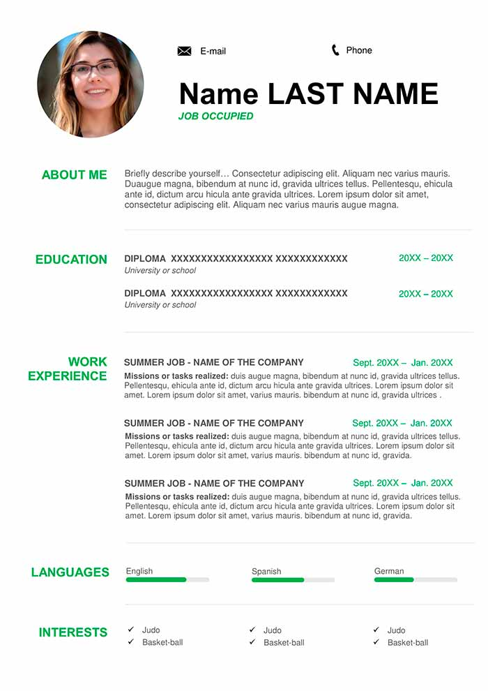 cv english example free for word library resume about yourself examples another name Resume Resume About Yourself Examples