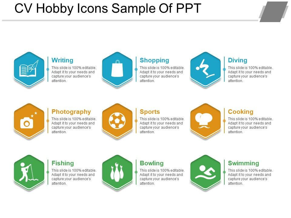 cv hobby icons sample of graphics presentation background for powerpoint designs slide Resume Examples Of Hobbies For A Resume
