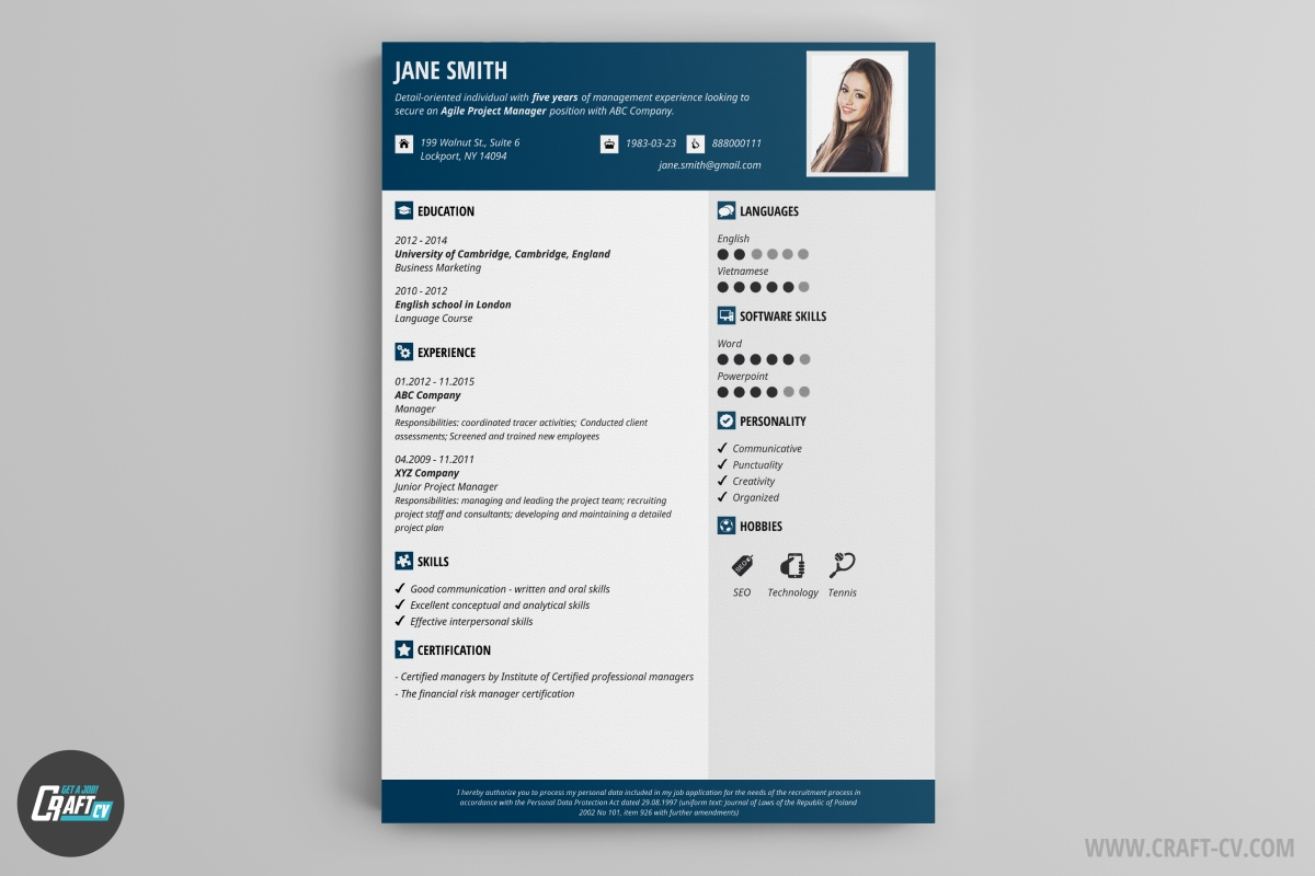 cv maker professional examples builder craftcv free template resume organization and time Resume Free Template Resume Builder
