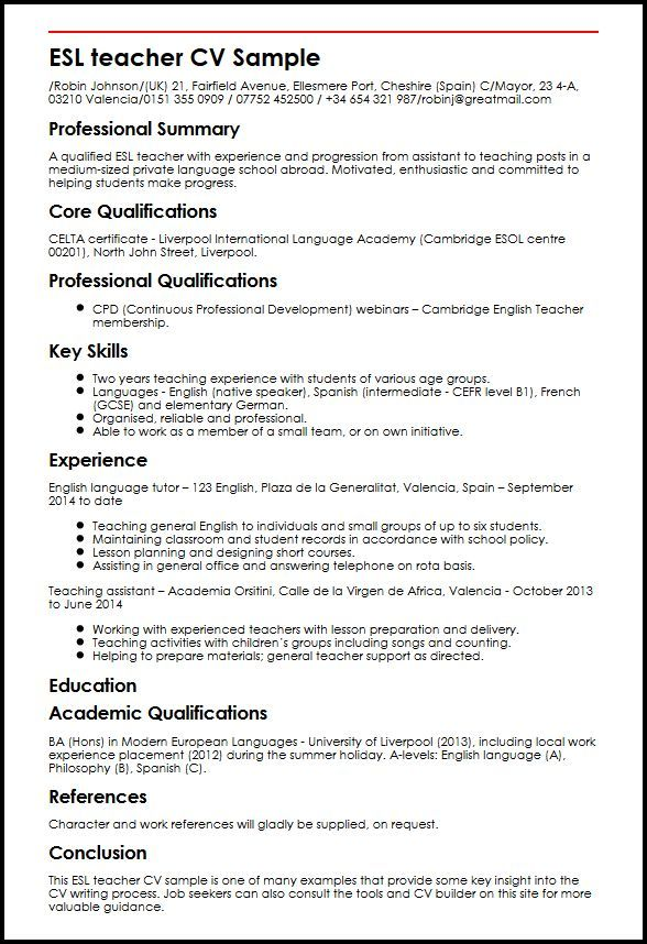 cv template languages teacher resume teaching including on certificates that look good Resume Including Languages On Resume
