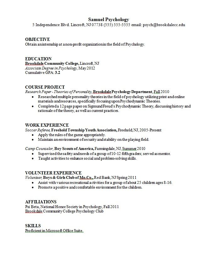 cv template psychology resume format templates sample examples retail job experience for Resume Psychology Resume Examples
