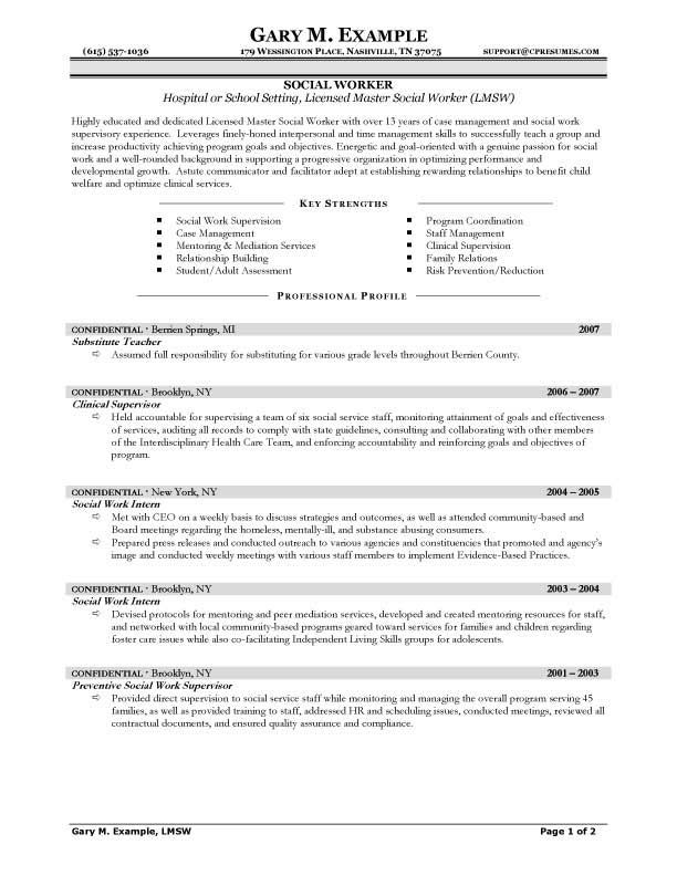 cv template social work job resume samples objective statement good examples for Resume Resume For Community Service Worker