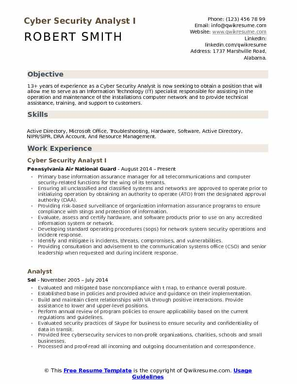cyber security analyst resume samples qwikresume soc sample pdf professional objective Resume Soc Analyst Resume Sample