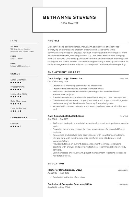 data analyst resume examples writing tips free guide io summary high school first Resume Data Analyst Resume Summary Examples