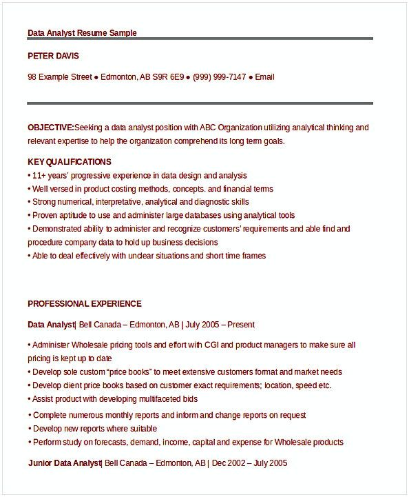 data analyst resume sample entry level in the search for information about job samples Resume Data Analyst Duties Resume