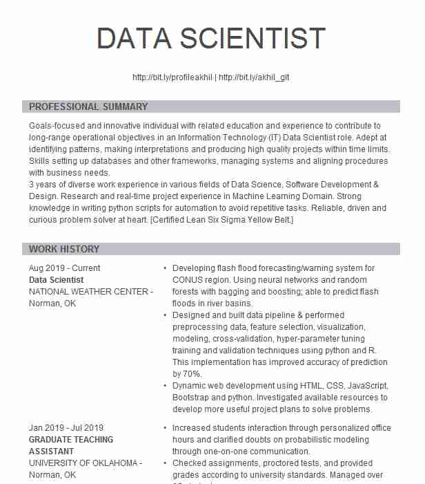 data scientist resume example fargo summary generic examples hvac skills best high school Resume Data Scientist Resume Summary Example