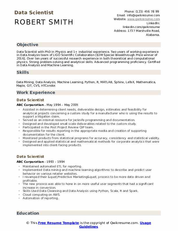 data scientist resume samples qwikresume machine learning for years experience pdf build Resume Machine Learning Resume For 2 Years Experience
