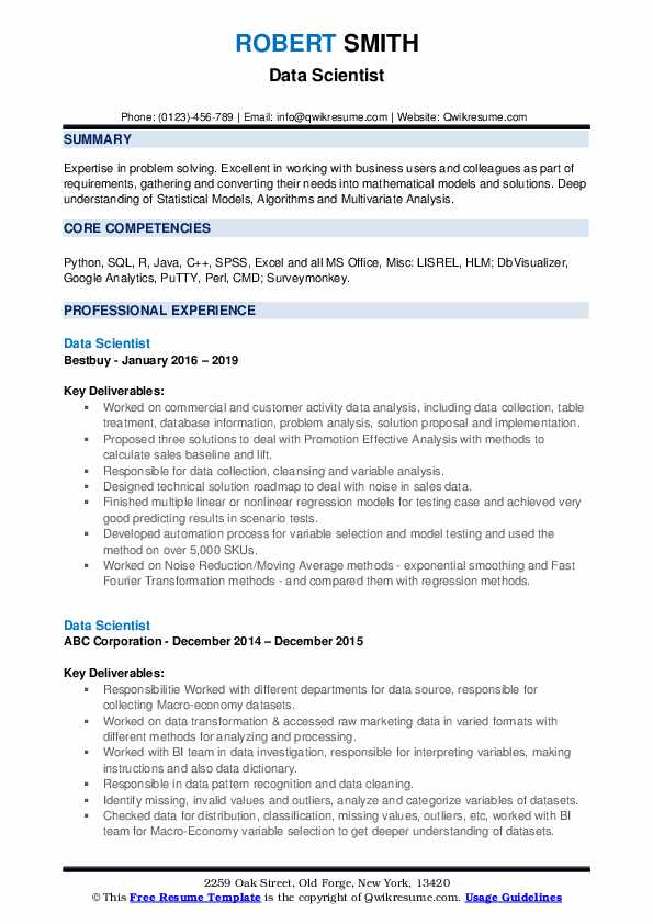 data scientist resume samples qwikresume summary example pdf of elon musk rn cover letter Resume Data Scientist Resume Summary Example
