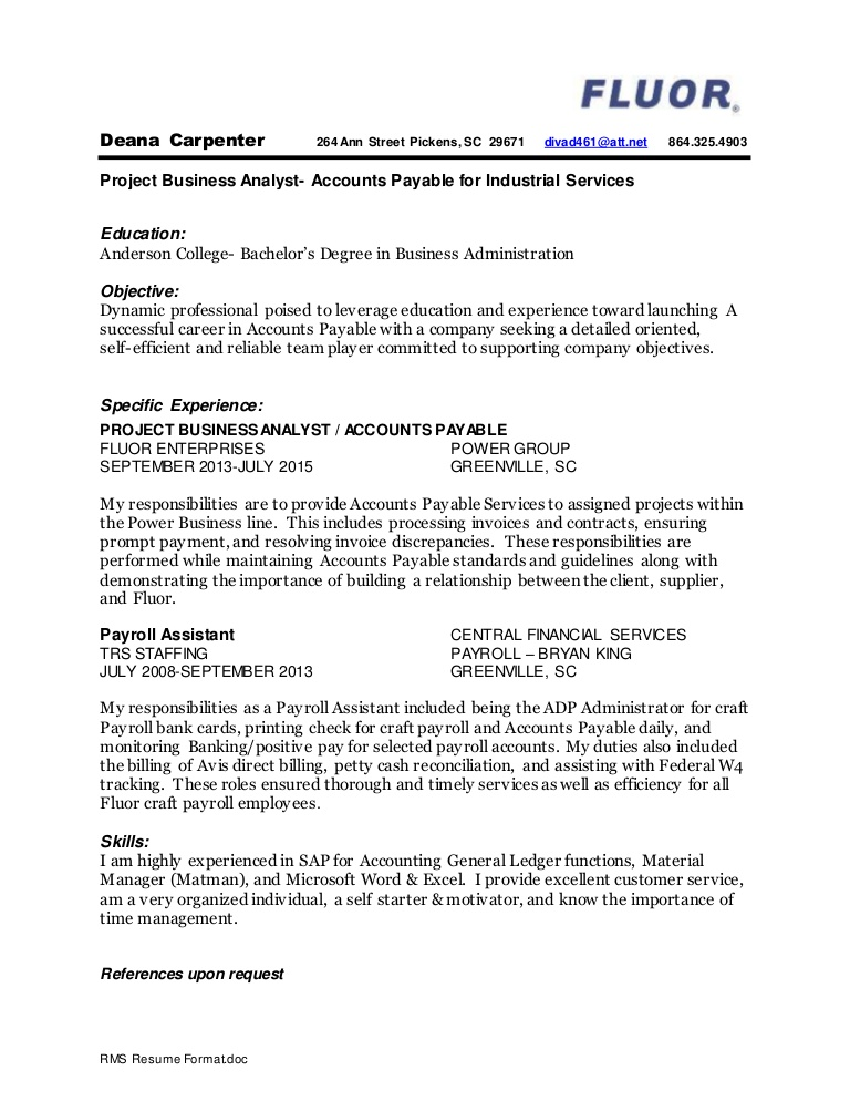 deana carpenter resume august 16th completed objective lva1 app6892 thumbnail profile Resume Carpenter Objective Resume