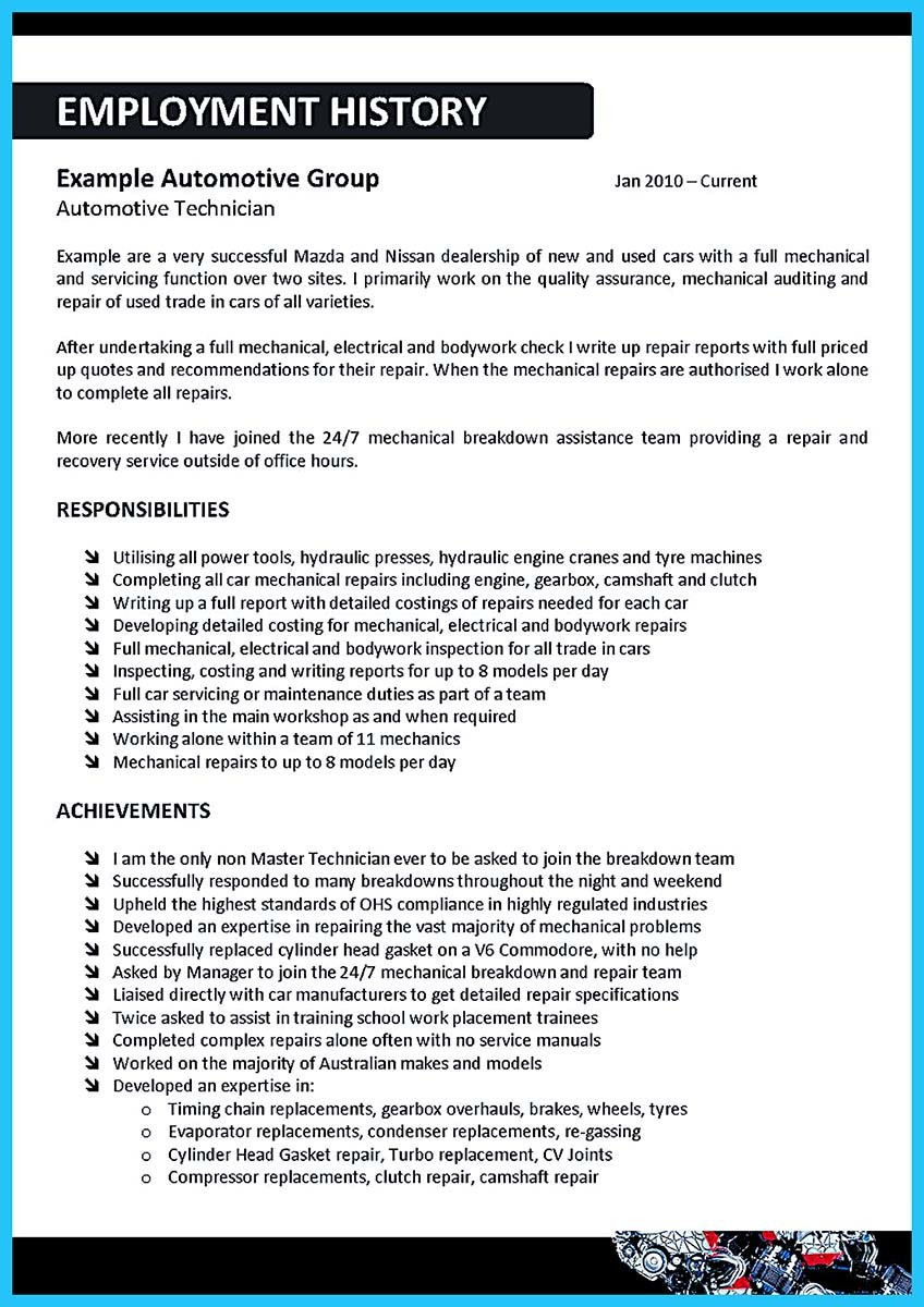 delivering your credentials effectively on auto mechanic resume self employed cleaner job Resume Self Employed Auto Mechanic Resume