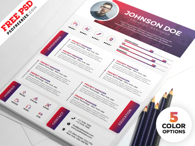 designer resume templates free psdfreebies for graphic rigger peace corps builder Resume Resume For Graphic Designer Free Download