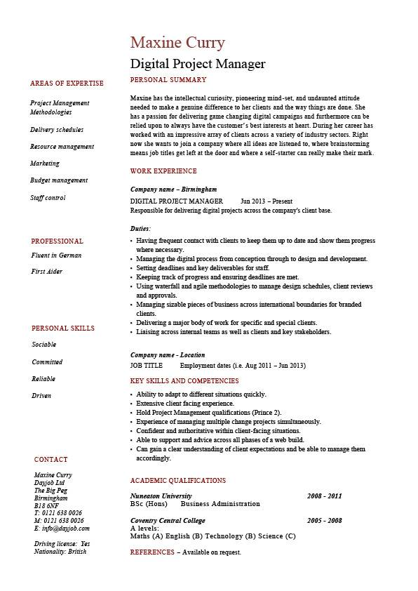 digital project manager resume example sample technology images clients social media job Resume Social Media Manager Resume Objective