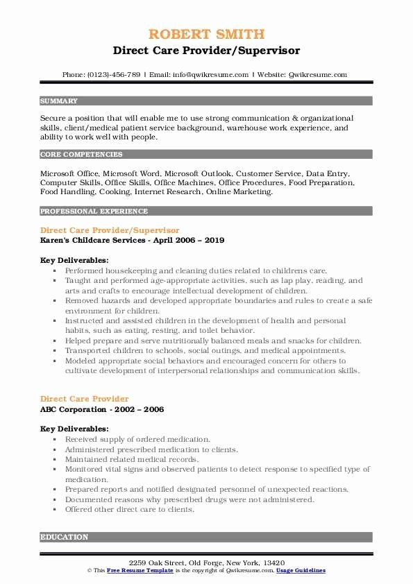 direct care worker resume new provider samples customer service job manager objective Resume Direct Care Resume Objective