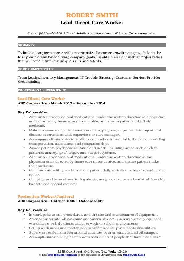 direct care worker resume samples qwikresume objective pdf photography good headline for Resume Direct Care Resume Objective