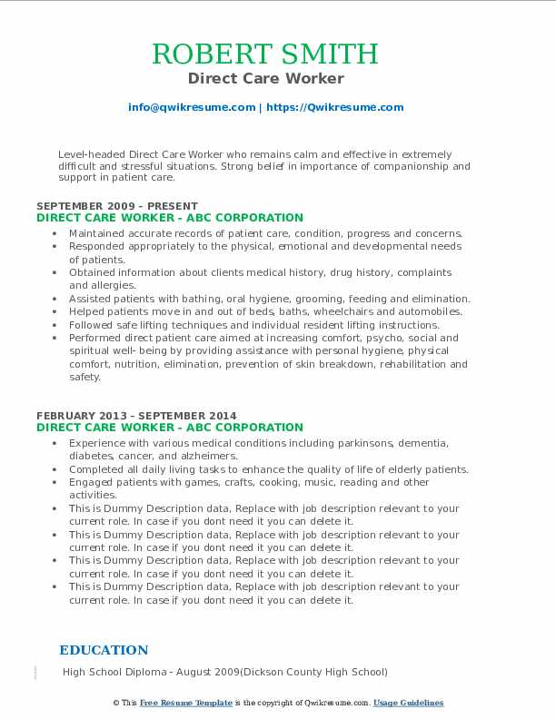 direct care worker resume samples qwikresume objective pdf sample for experienced network Resume Direct Care Resume Objective