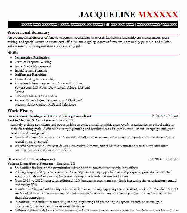 director of development fundraising resume example senior support services o365 sample Resume Director Of Development Resume