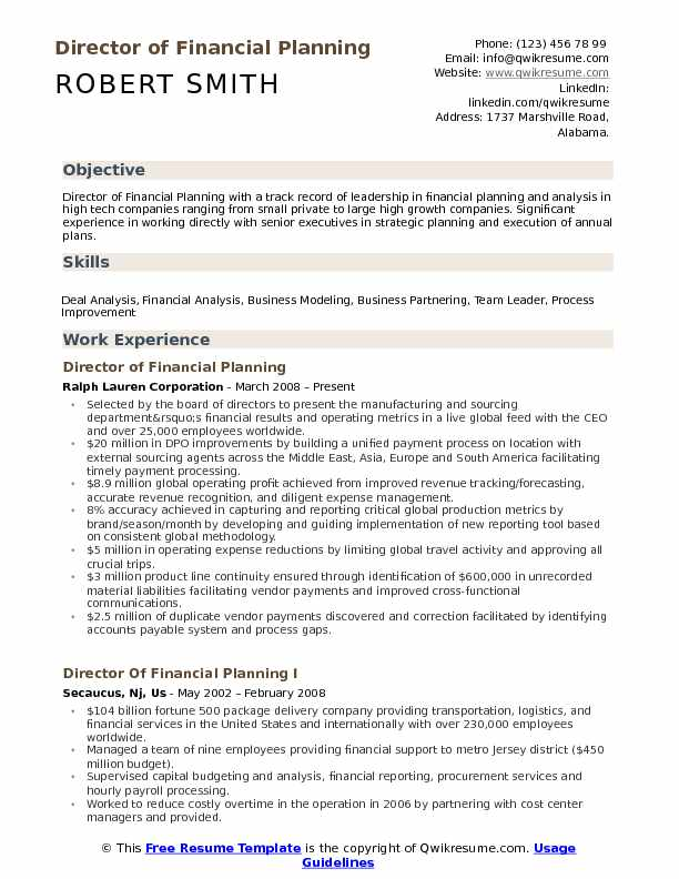 director of financial planning resume samples qwikresume and analysis summary pdf gifted Resume Financial Planning And Analysis Resume Summary