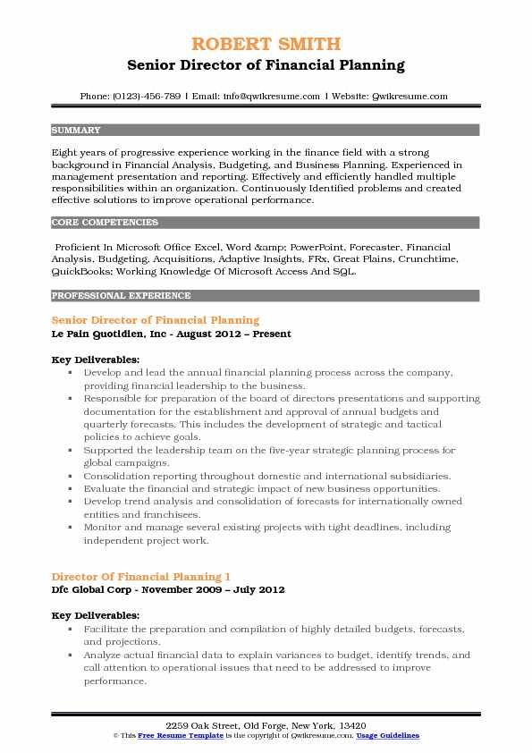 director of financial planning resume samples qwikresume and analysis summary pdf Resume Financial Planning And Analysis Resume Summary